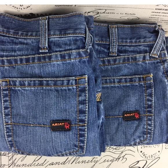 Ariat Jeans Ariat Lot Of 2 Pair Fr M5 Slim Straight 34x28 Poshmark